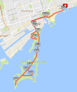 toronto beach jazz run half marathon route